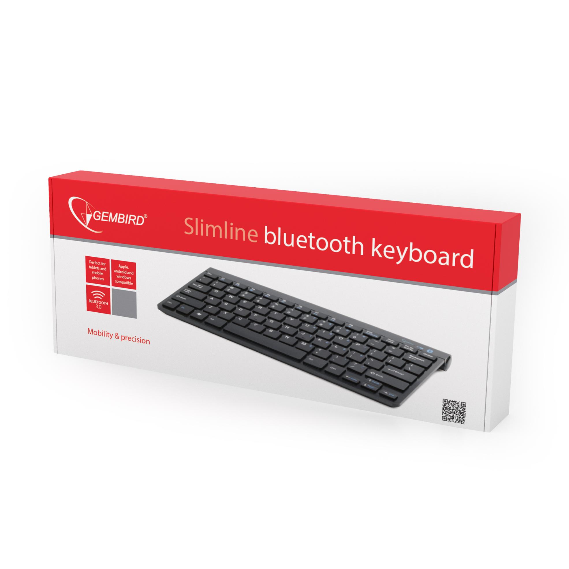 Bluetooth keyboard, US layout, black (KB-BT-001)
