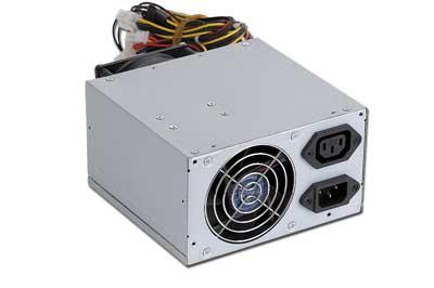 Power supply 500W ATX/BTX, CE,  PFC, low noise, dual fan