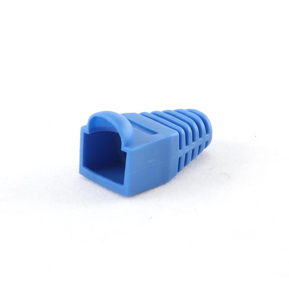 Strain relief (boot cap),       blue