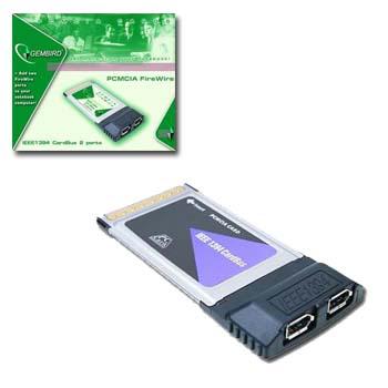 PCMCIA-FW2 FireWire CardBus     PCMCIA kaart 2 FireWire poorten