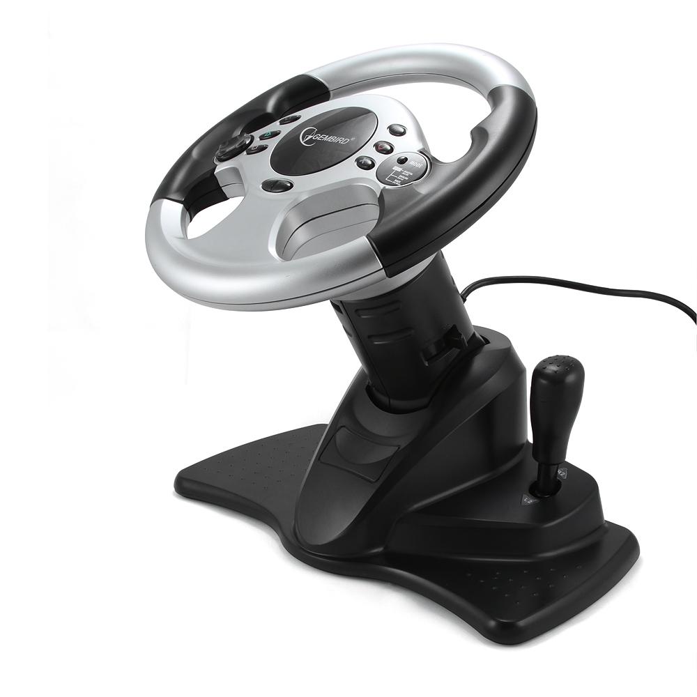 Multi-interface 4-in-1 race     stuurwiel en pedalen met twee