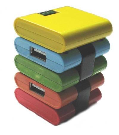 4-poorts USB-hub                'snake'