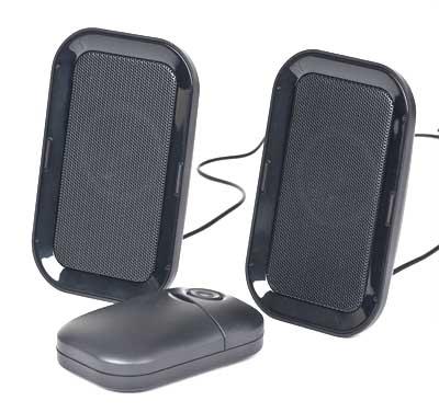 Draagbare                       speakerset
