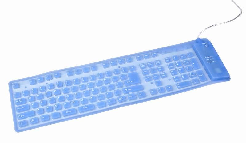 Flexibel siliconen toetsenbord  met achtergrondverlichting,