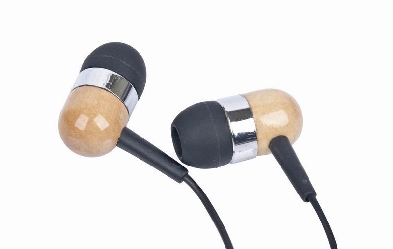 Houten MP3                      oortelefoon