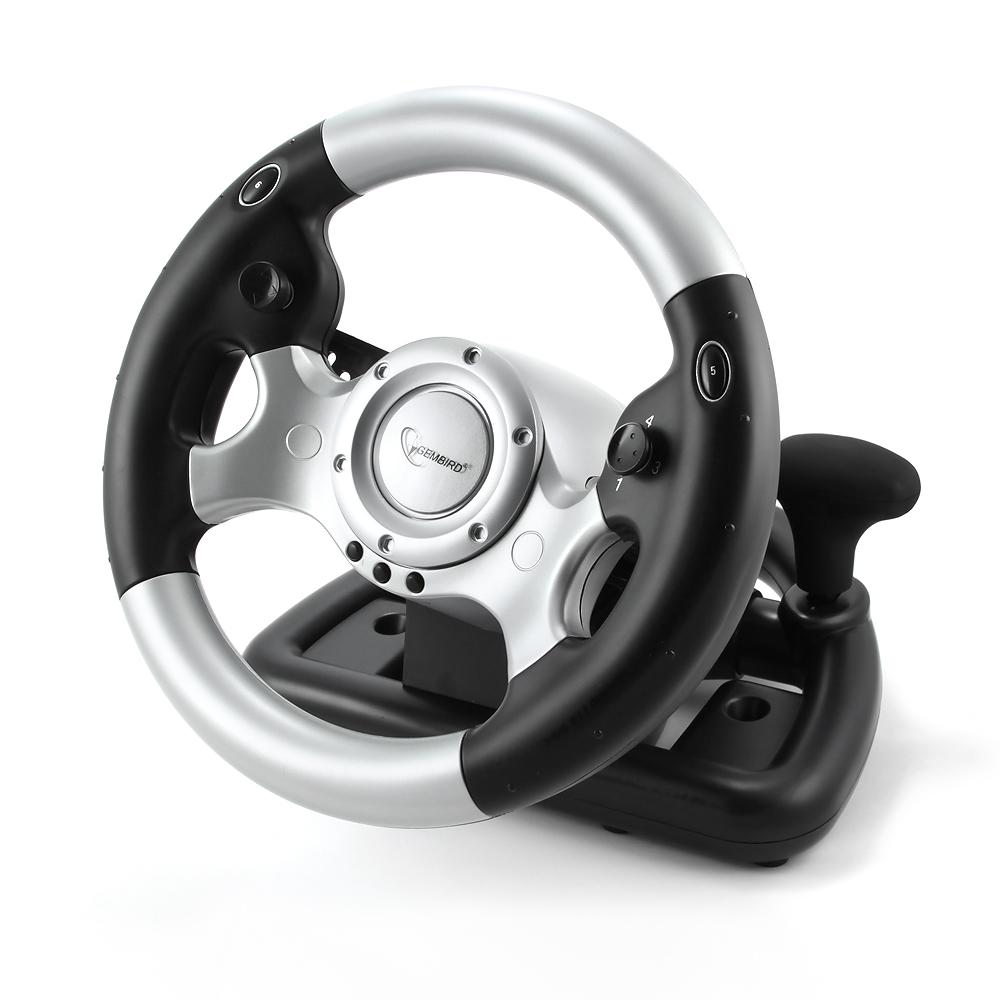 USB Force feedback steering     wheel