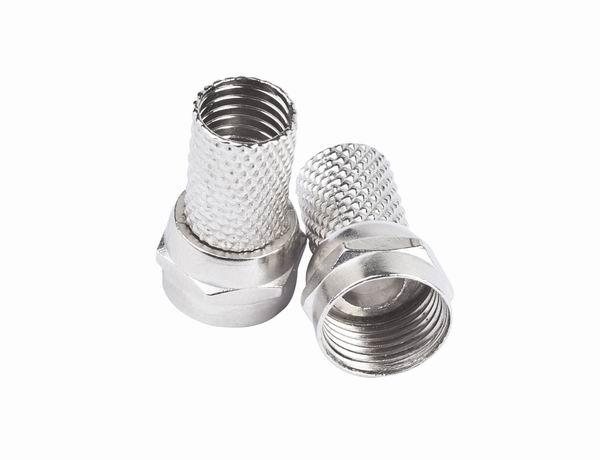 F-connector, 6.5 mm, 10 pcs per blister