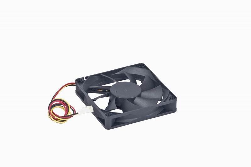 Cooler fan, 70x70x15 mm, sleeve bearing, medium speed, 3 pin